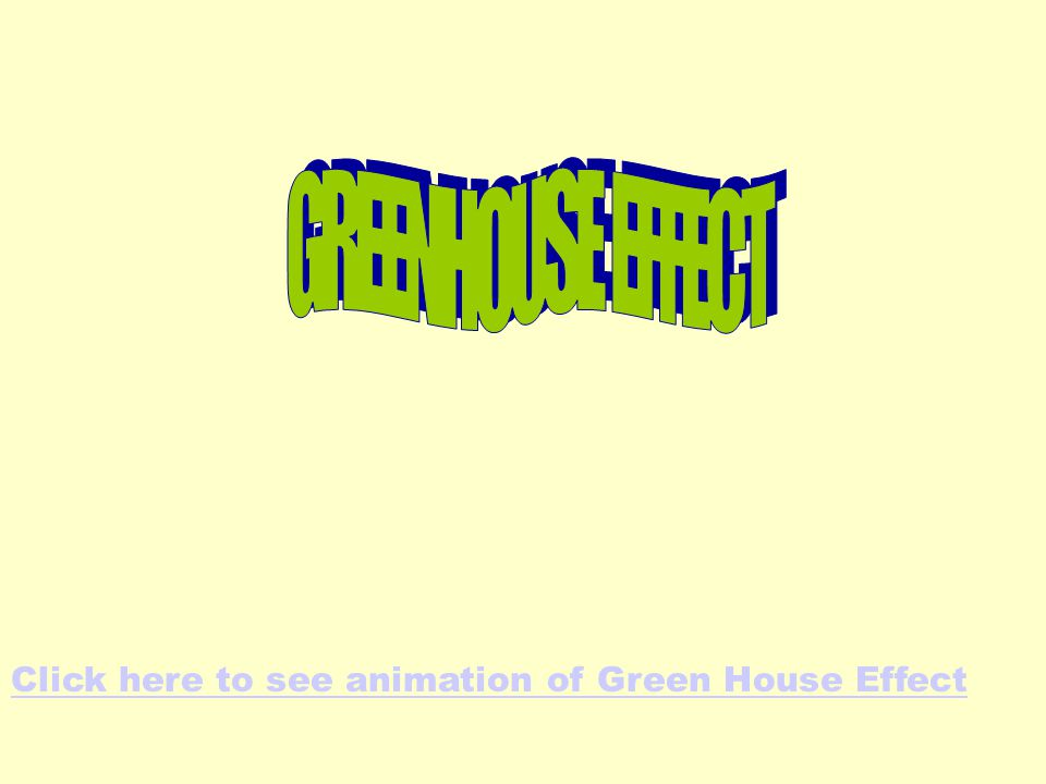 Click here to see animation of Green House Effect