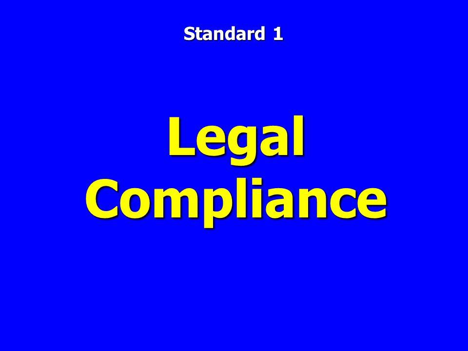 Legal Compliance Standard 1
