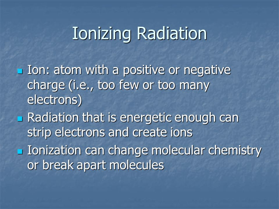 What is radiation? Radiation is energy emitted from unstable atoms. Radiation can be in the form of subatomic particles (alpha or beta particles) or e