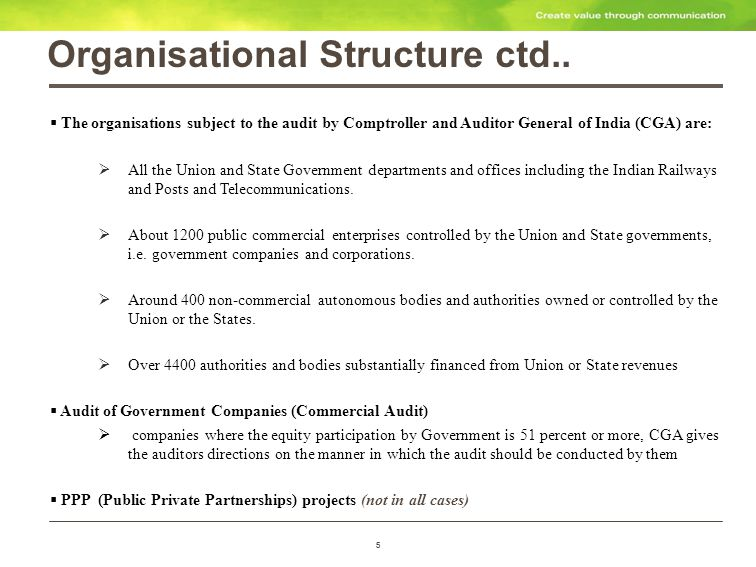 5 Organisational Structure ctd..