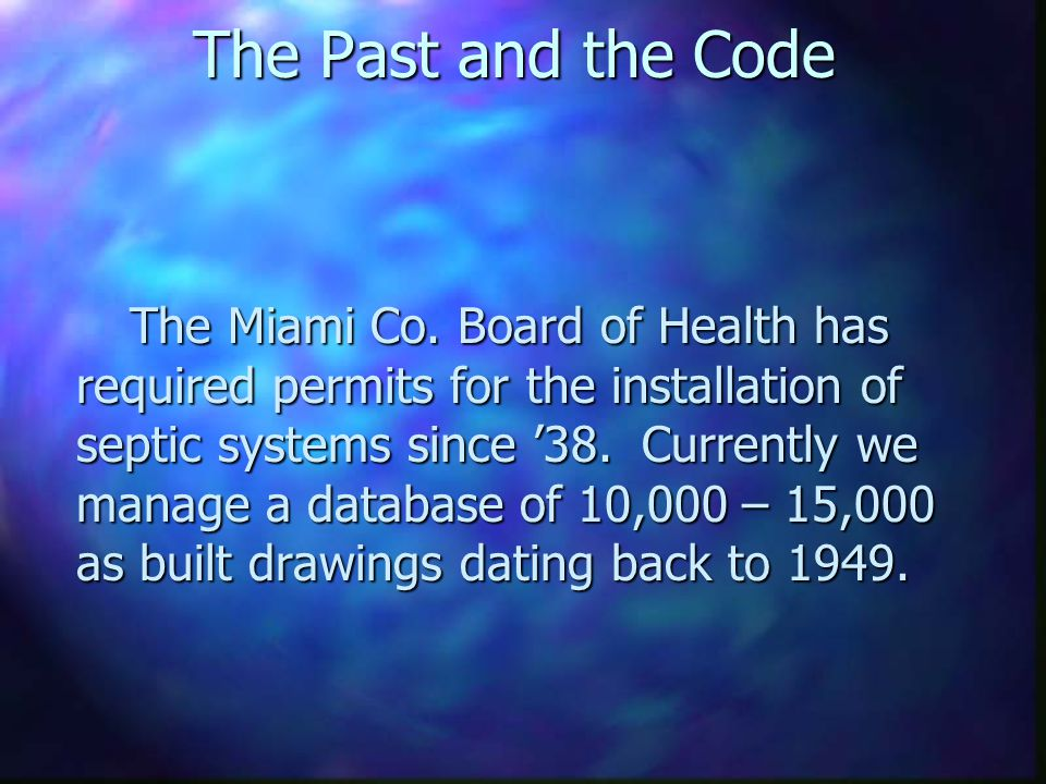 The Miami County Clean Waters/319 Project Ron Jackson, R.S. Ron Jackson, R.S. 319 Project Coordinator 319 Project Coordinator 937-440-5450 or 937-440-
