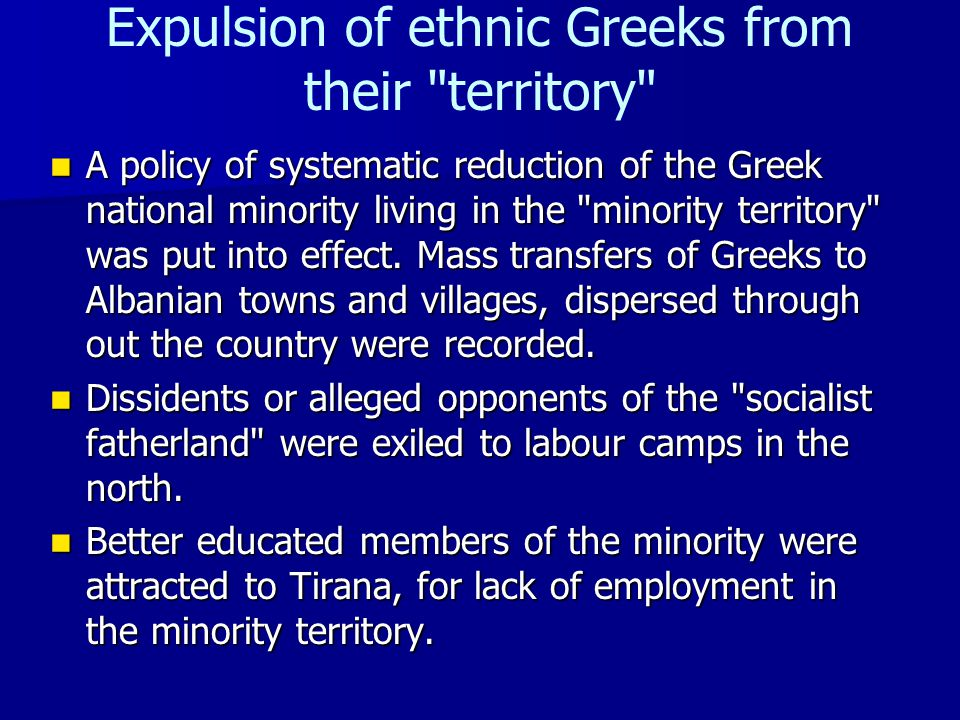 Expulsion of ethnic Greeks from their