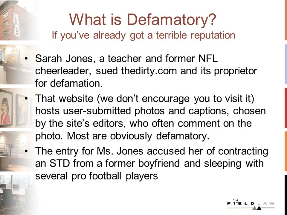 What is Defamatory.
