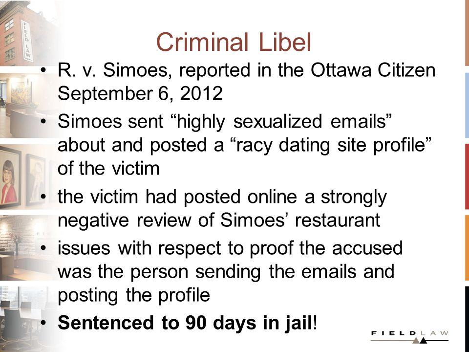 Criminal Libel R. v.
