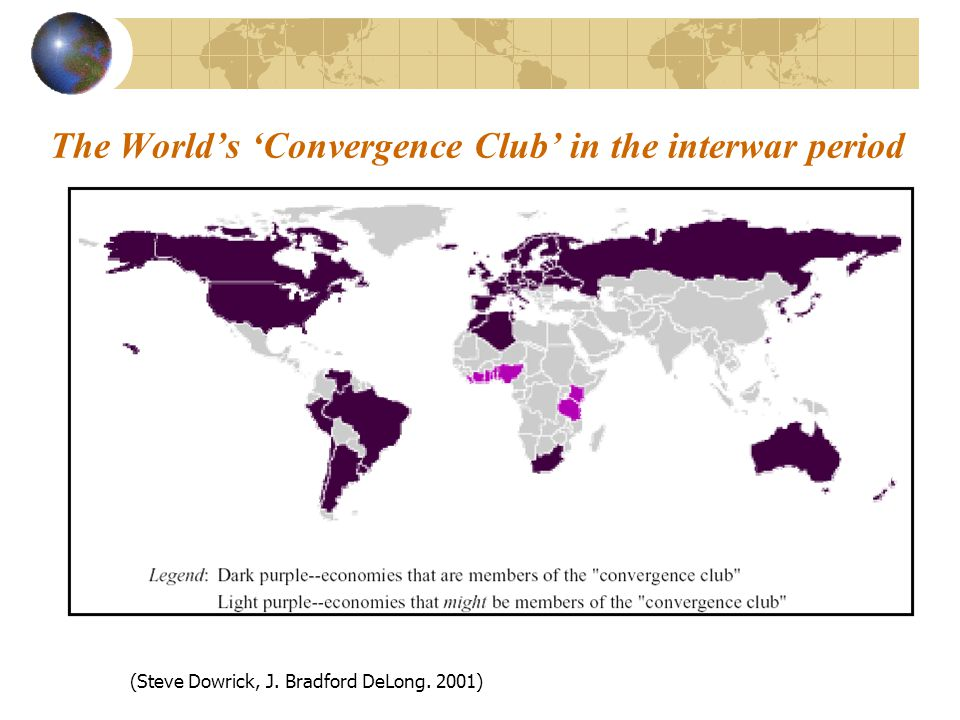 The Worlds Convergence Club in the interwar period (Steve Dowrick, J. Bradford DeLong. 2001)