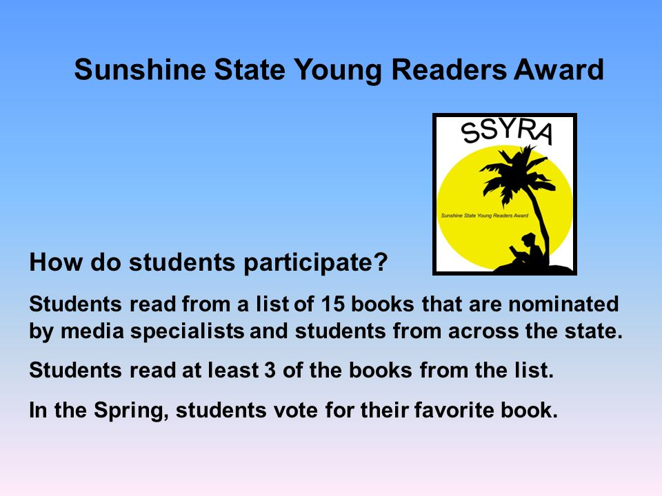 Sunshine State Young Readers Award How do students participate.