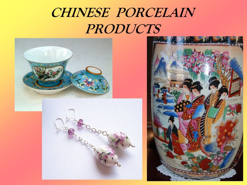 CHINESE PORCELAIN PRODUCTS