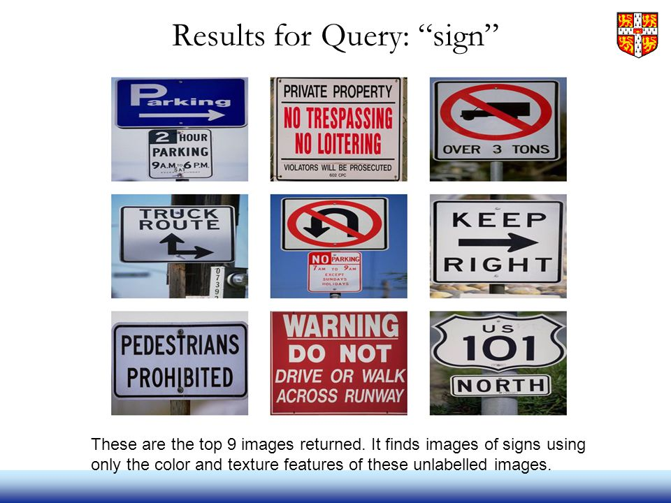 Results for Query: sign These are the top 9 images returned.