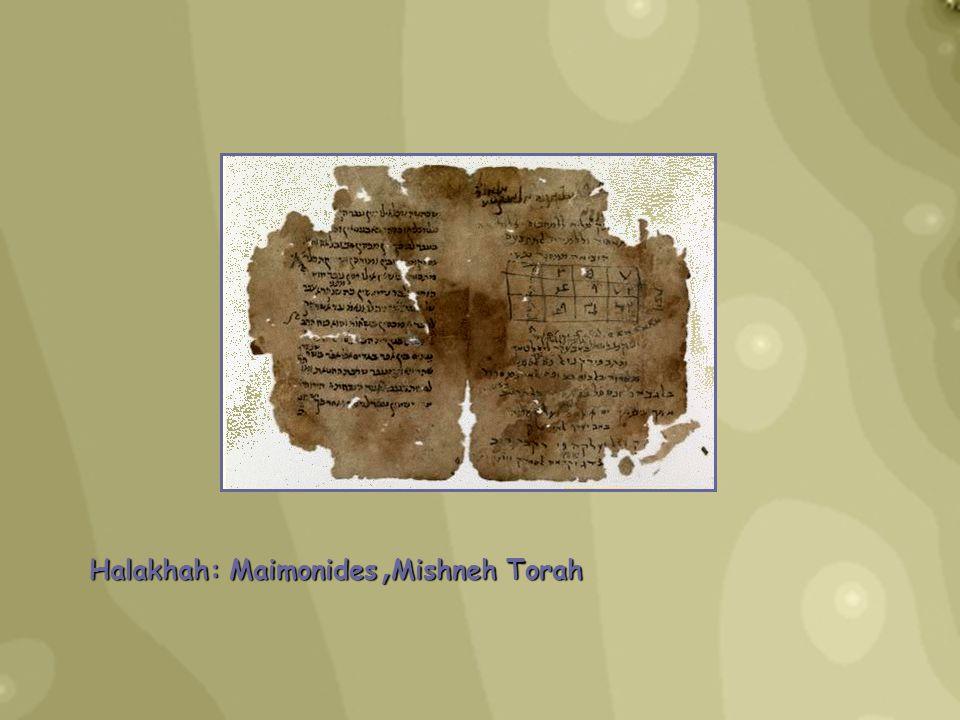 Halakhah: Maimonides, Mishneh Torah