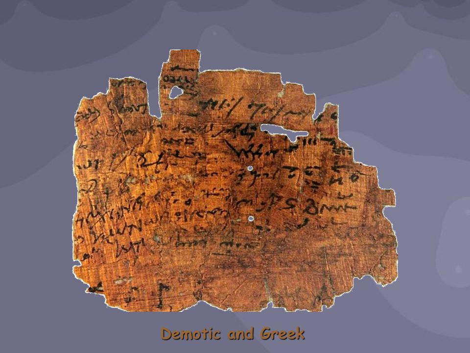 Demotic and Greek
