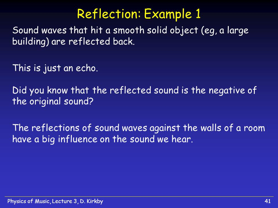 Physics of Music, Lecture 3, D.