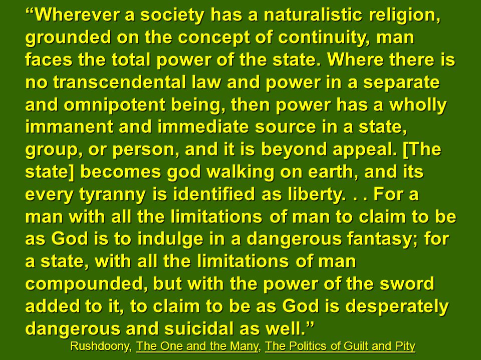 The Post-Babel Corrupted Noahic Civilization: the Kingdom of Man FoundationContinuity of Being; good/evil mix as normal Goal (Promise) Autonomous destiny of, by, and for man