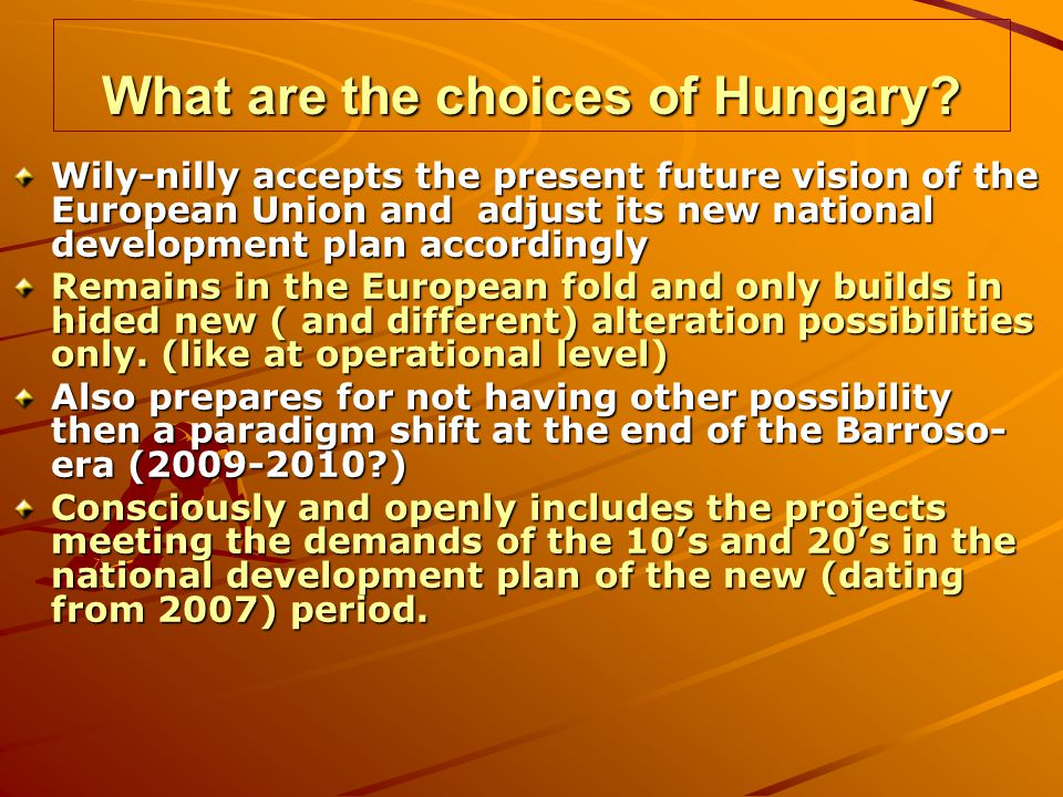 What are the choices of Hungary.