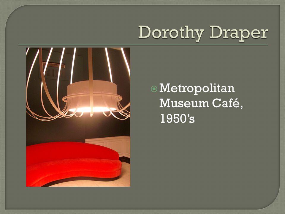 Metropolitan Museum Café, 1950s