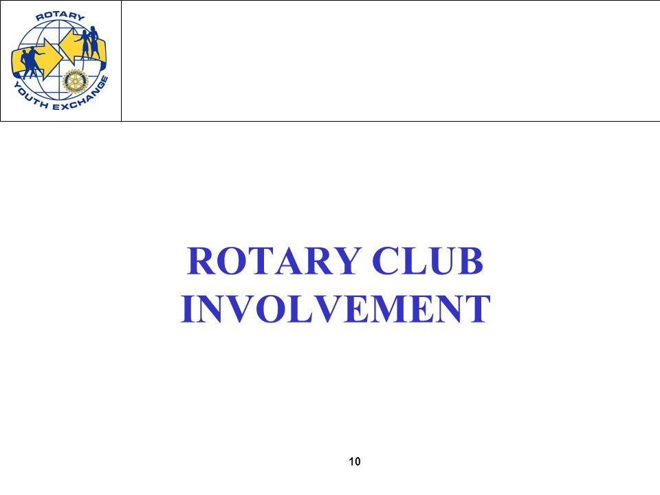 10 ROTARY CLUB INVOLVEMENT