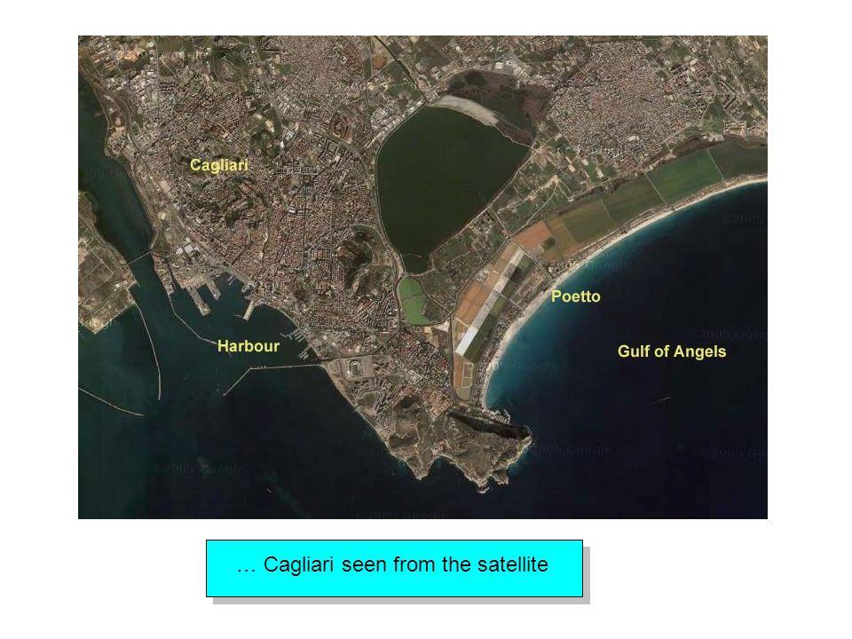 … Cagliari seen from the satellite