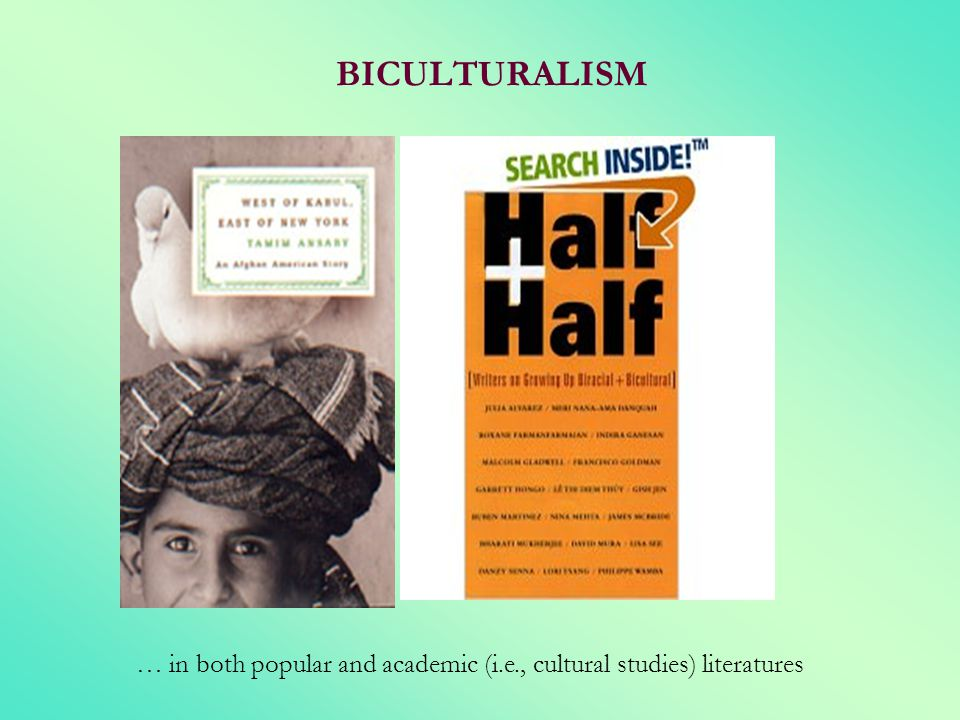 BICULTURALISM … in both popular and academic (i.e., cultural studies) literatures
