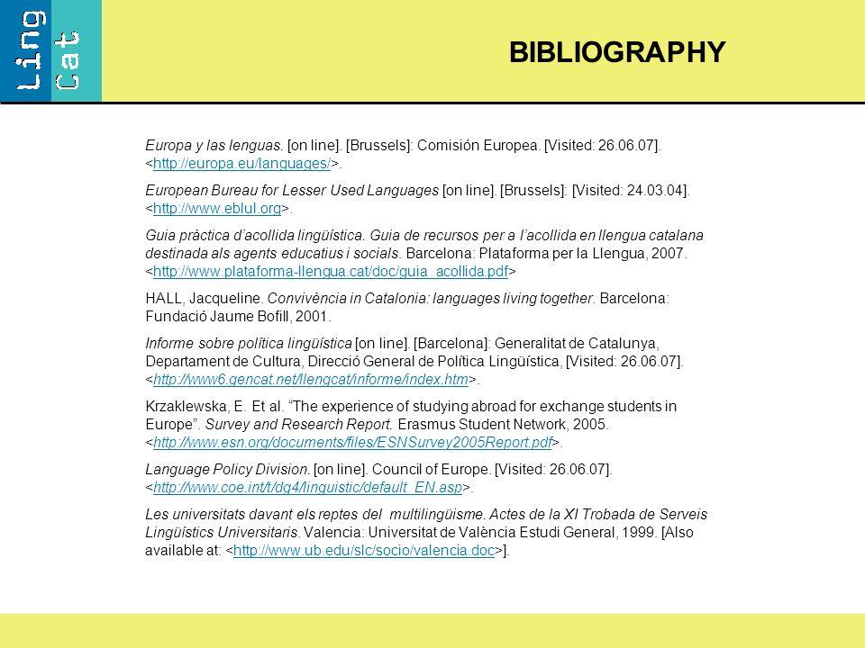 Europa y las lenguas. [on line]. [Brussels]: Comisión Europea.
