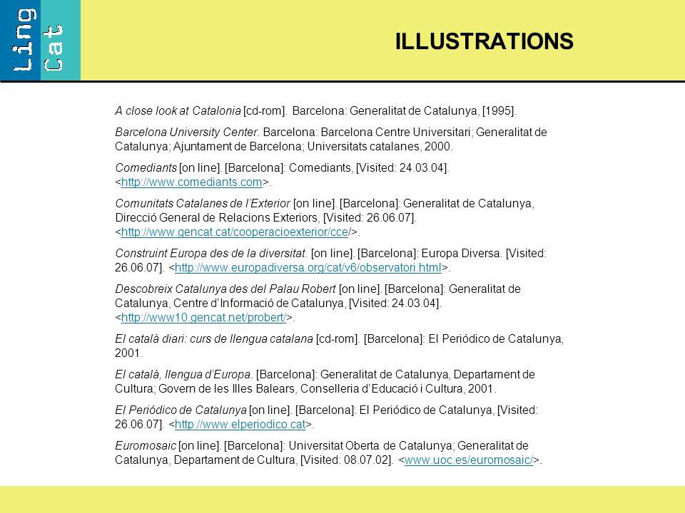 A close look at Catalonia [cd-rom]. Barcelona: Generalitat de Catalunya, [1995].