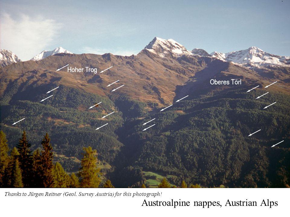 Hoher Trog Oberes Törl Austroalpine nappes, Austrian Alps Thanks to Jürgen Reitner (Geol.