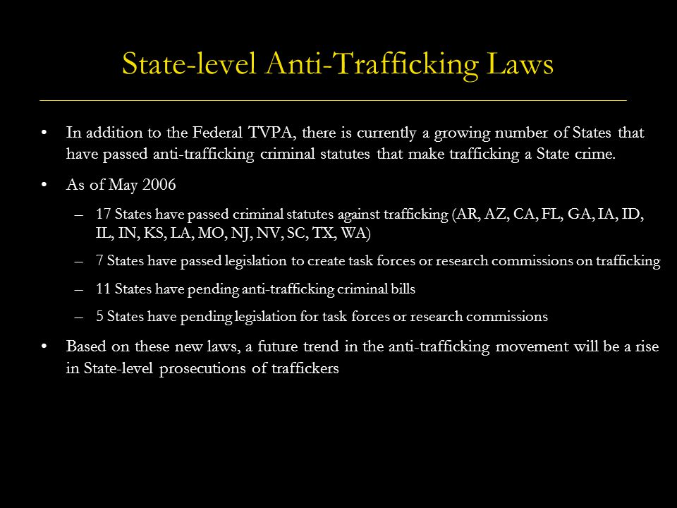 Human Trafficking in the United States - A Framework for Understanding Types of Human Trafficking U.S.