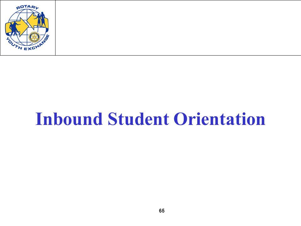 65 Inbound Student Orientation