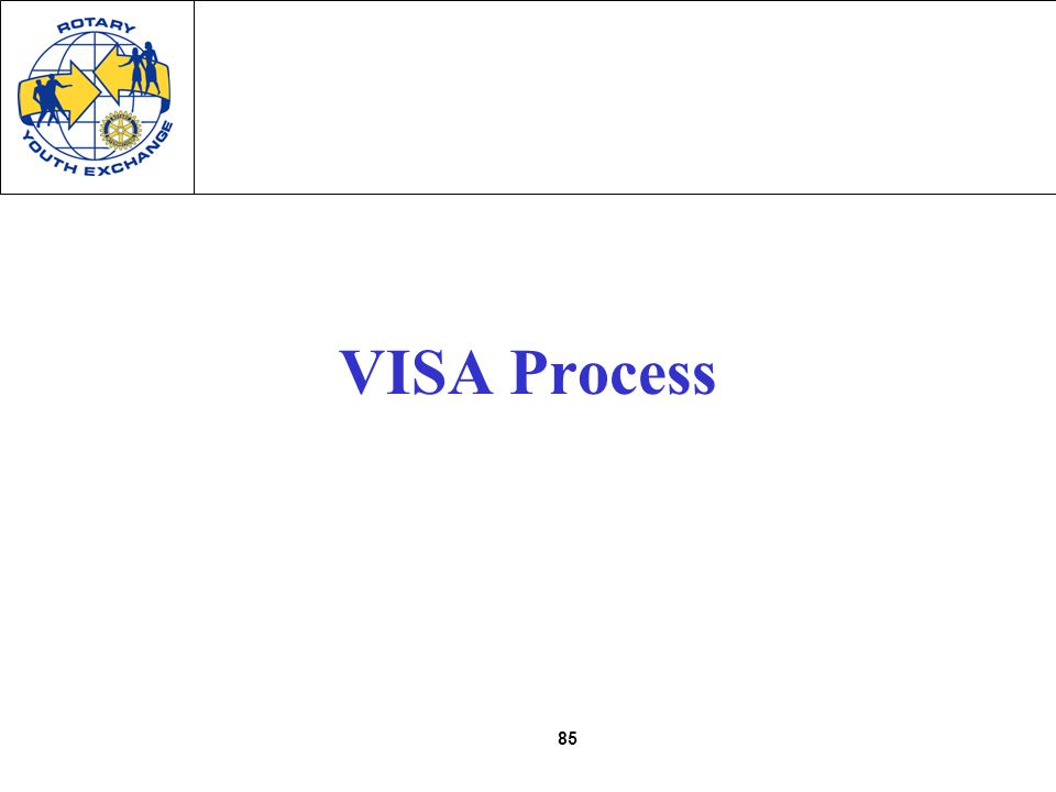 85 VISA Process