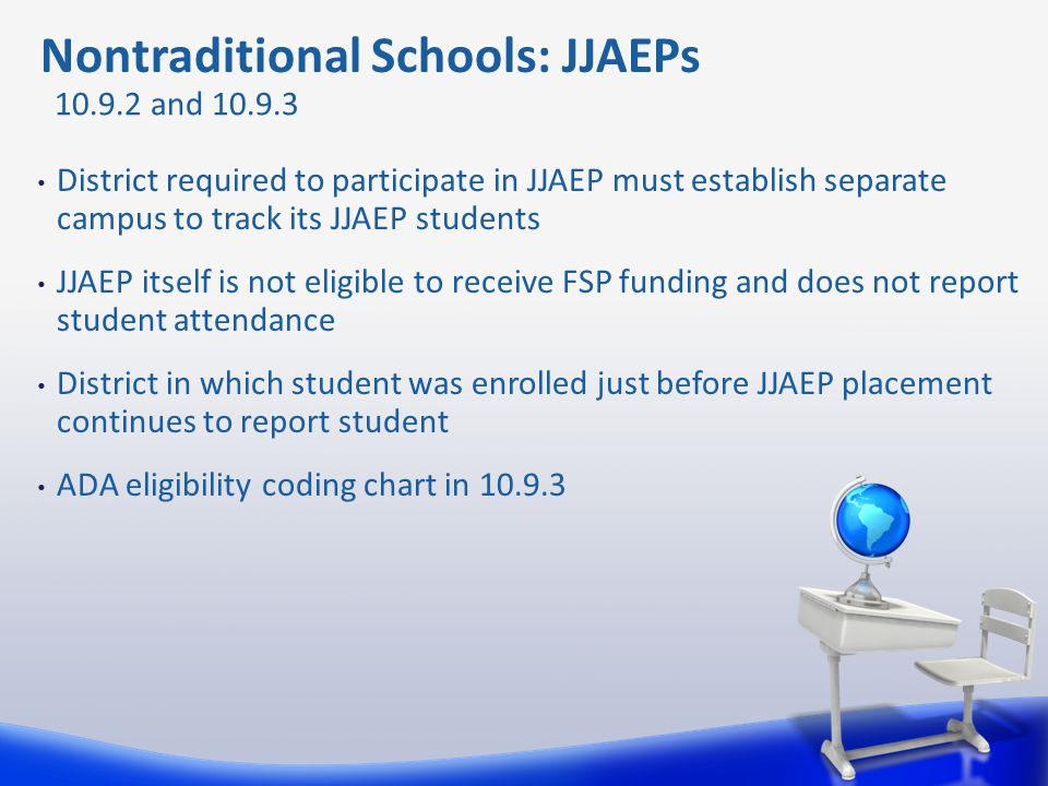 District required to participate in JJAEP must establish separate campus to track its JJAEP students JJAEP itself is not eligible to receive FSP fundi