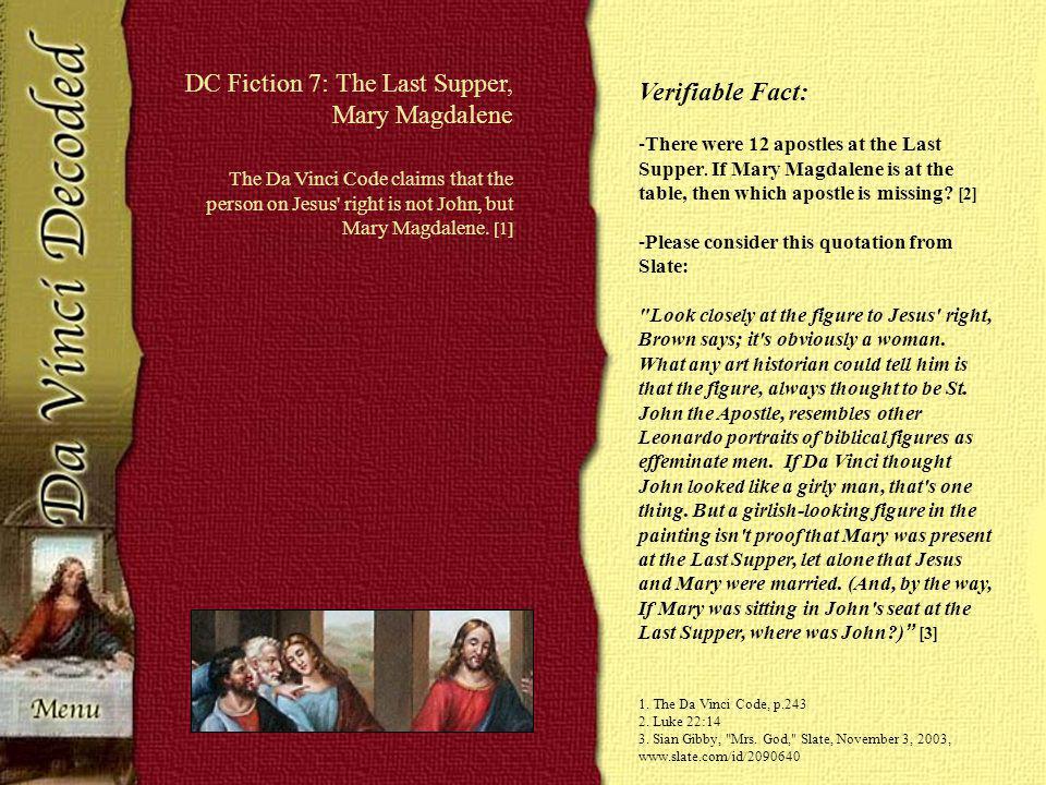 DC Fiction 8: Jesus Marital Status -Sir Leigh Teabing was still talking.