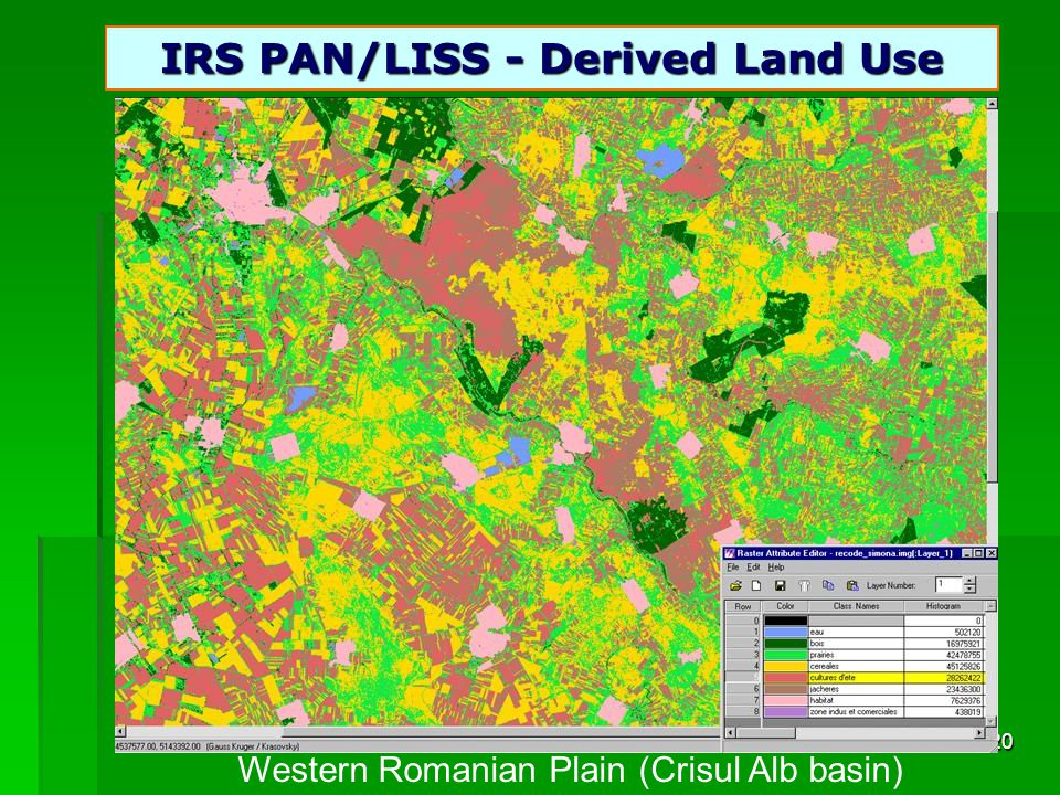 20 IRS PAN/LISS - Derived Land Use Western Romanian Plain (Crisul Alb basin)