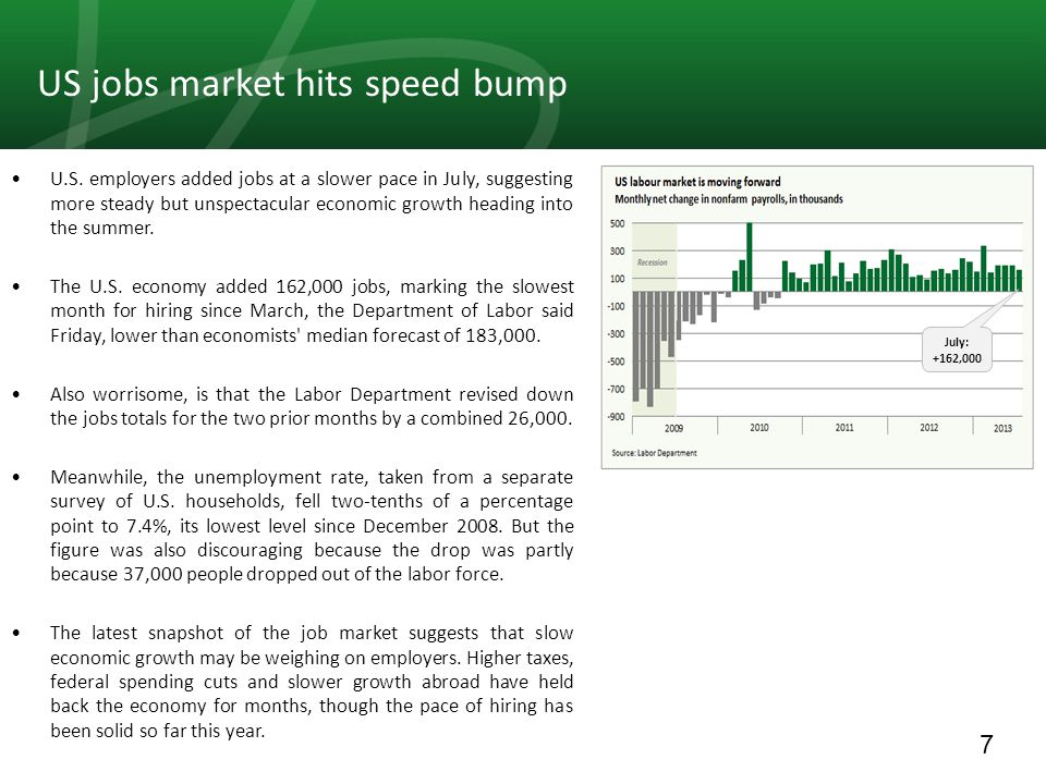 8 The latest employment report shows that labor markets continue to heal, albeit slowly.