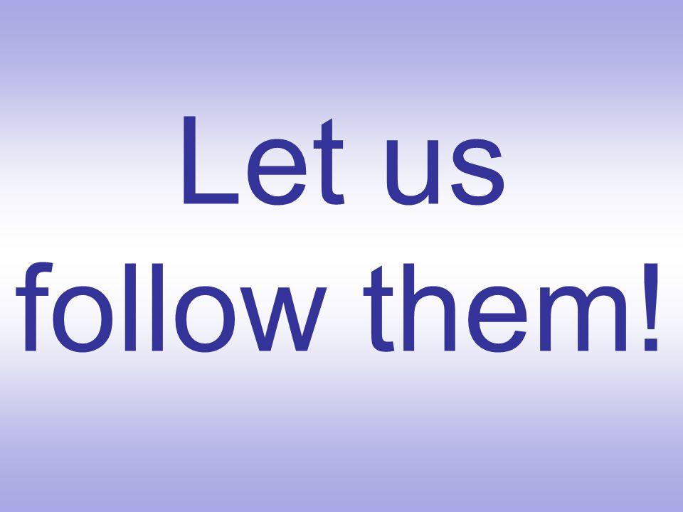 Let us follow them!