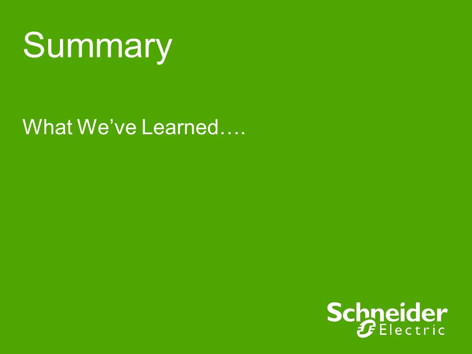 Summary What Weve Learned….