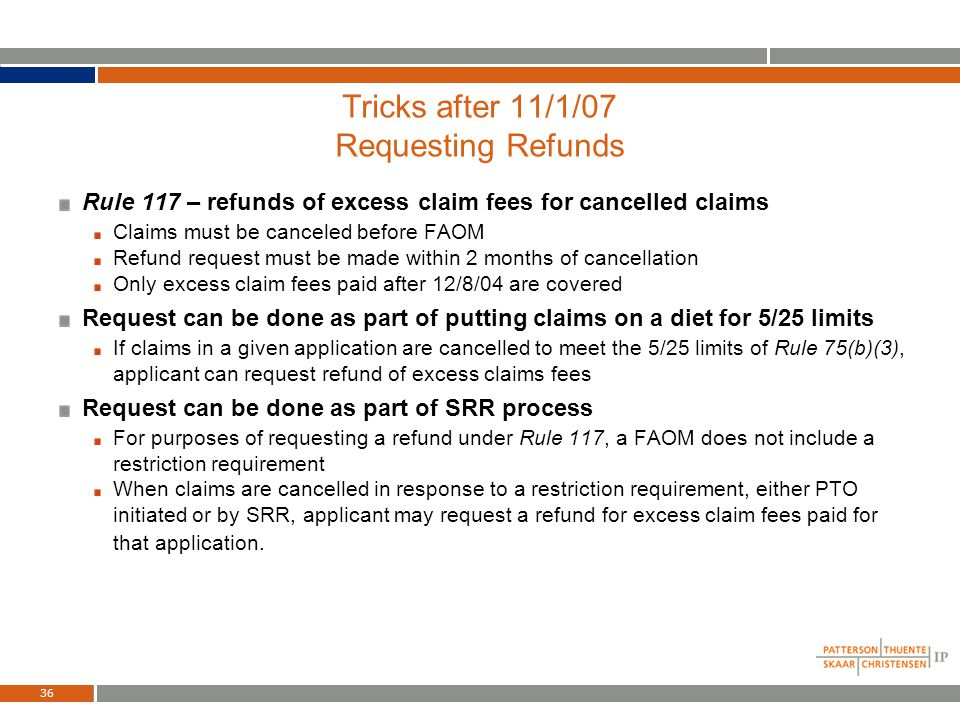 35 Tricks after 11/1/07 Use Provisionals Instead of CIPS Use multiple provisionals instead of CIPs Always attach copies of prior provisionals (no inco