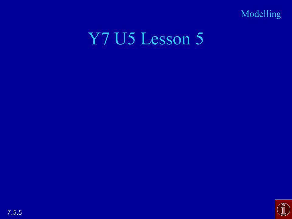 Y7 U5 Lesson 5 7.5.5 Modelling