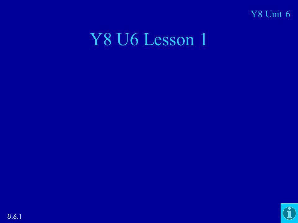 Y8 U6 Lesson 1 8.6.1 Y8 Unit 6