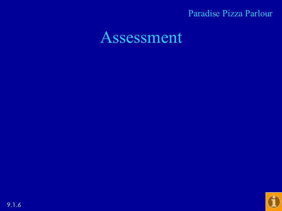 Assessment Paradise Pizza Parlour