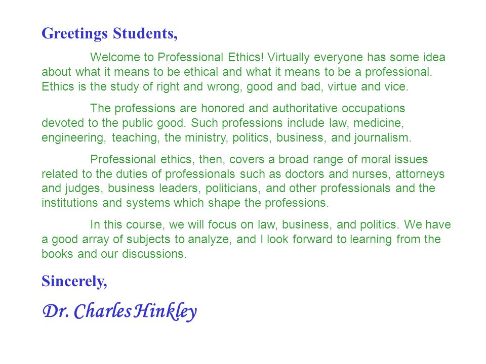 Instructor: Dr.Charles Hinkley Office hours: Psychology Bldg.