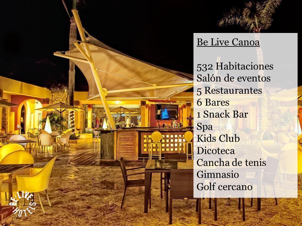 532 Habitaciones Salón de eventos 5 Restaurantes 6 Bares 1 Snack Bar Spa Kids Club Dicoteca Cancha de tenis Gimnasio Golf cercano