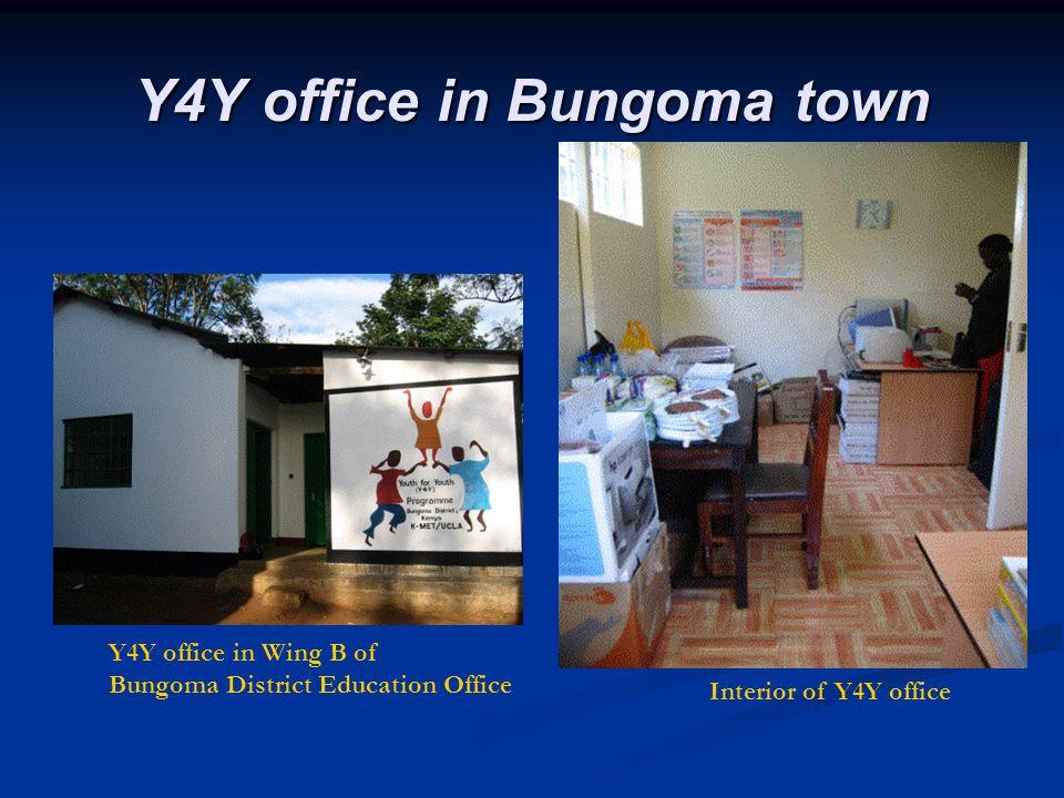 Y4Y office in Bungoma town Bungoma Y4Y office in Wing B of Bungoma District Education Office Interior of Y4Y office