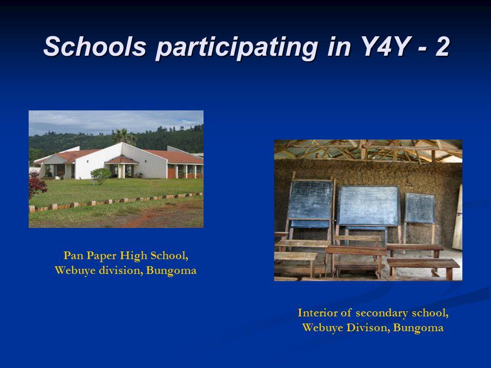 Schools participating in Y4Y - 2 Pan Paper High School, Webuye division, Bungoma Interior of secondary school, Webuye Divison, Bungoma