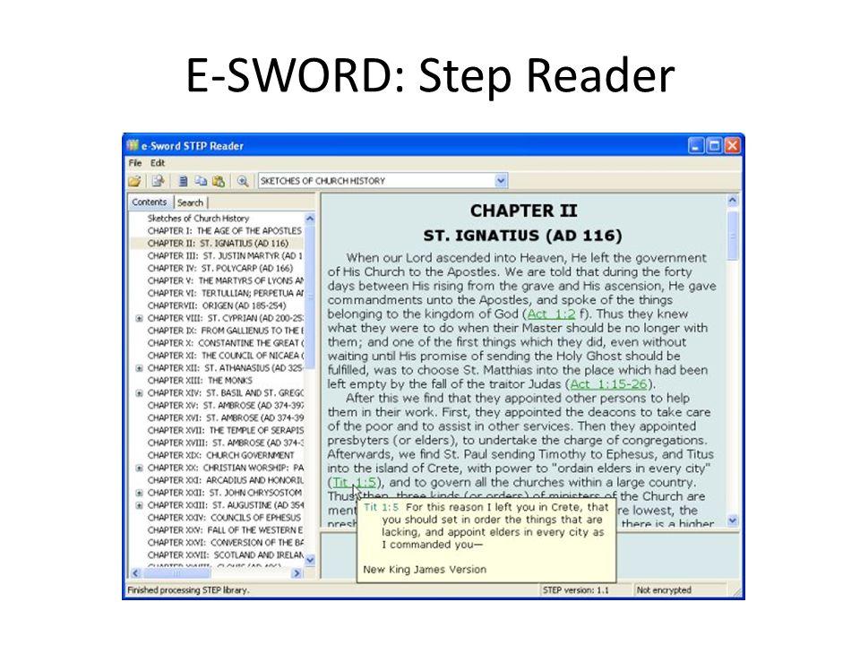 E-SWORD: Step Reader