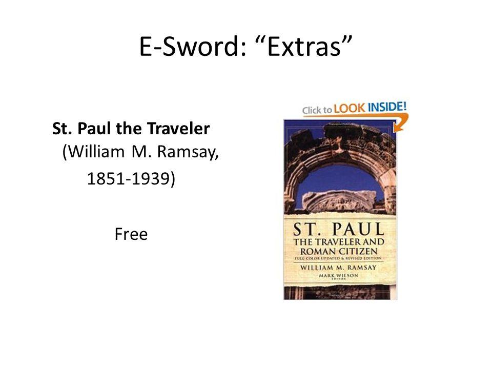 E-Sword: Extras St. Paul the Traveler (William M. Ramsay, 1851-1939) Free