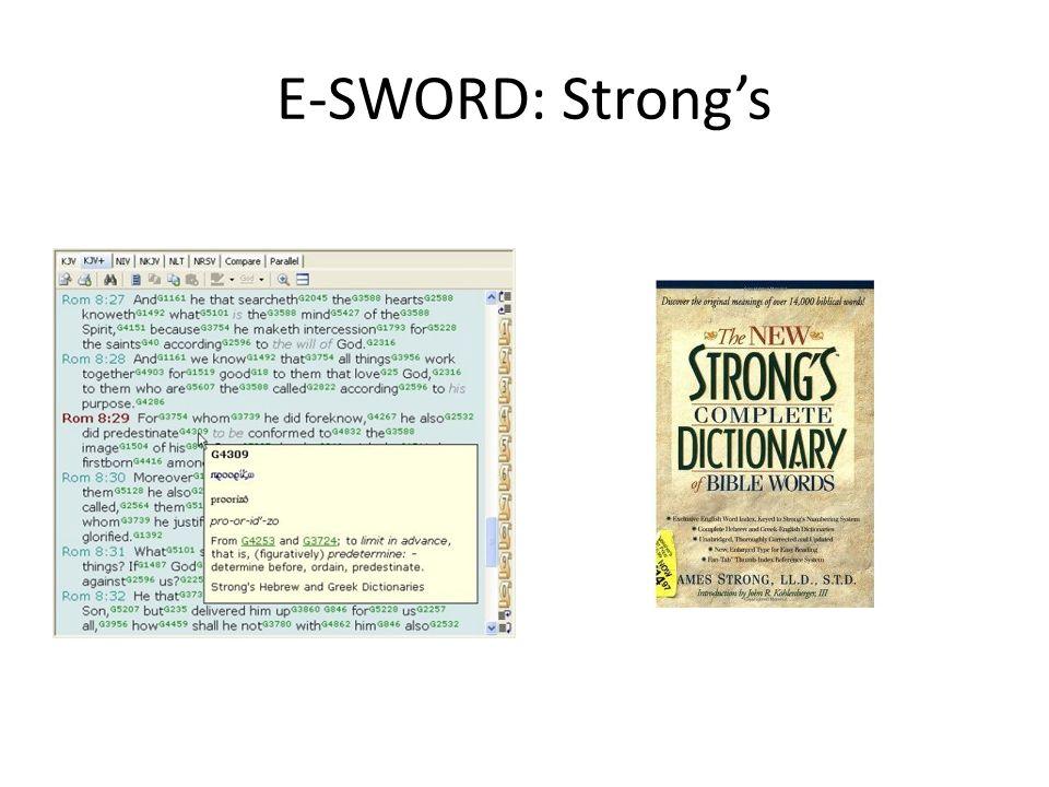 E-SWORD: Strongs