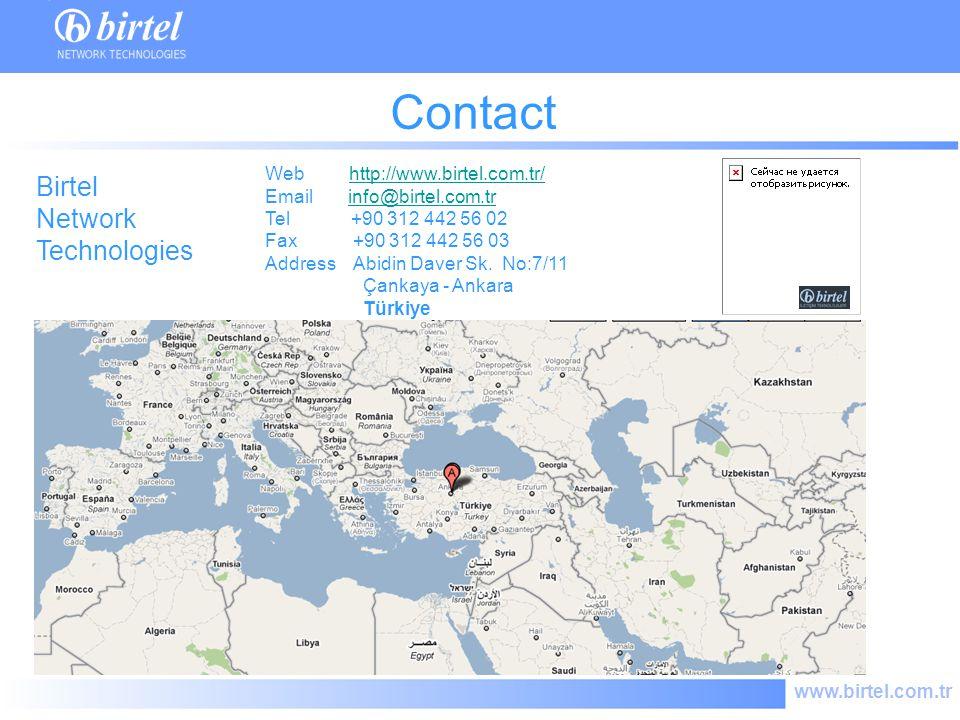 www.birtel.com.tr Contact Web http://www.birtel.com.tr/http://www.birtel.com.tr/ Email info@birtel.com.trinfo@birtel.com.tr Tel +90 312 442 56 02 Fax +90 312 442 56 03 Address Abidin Daver Sk.