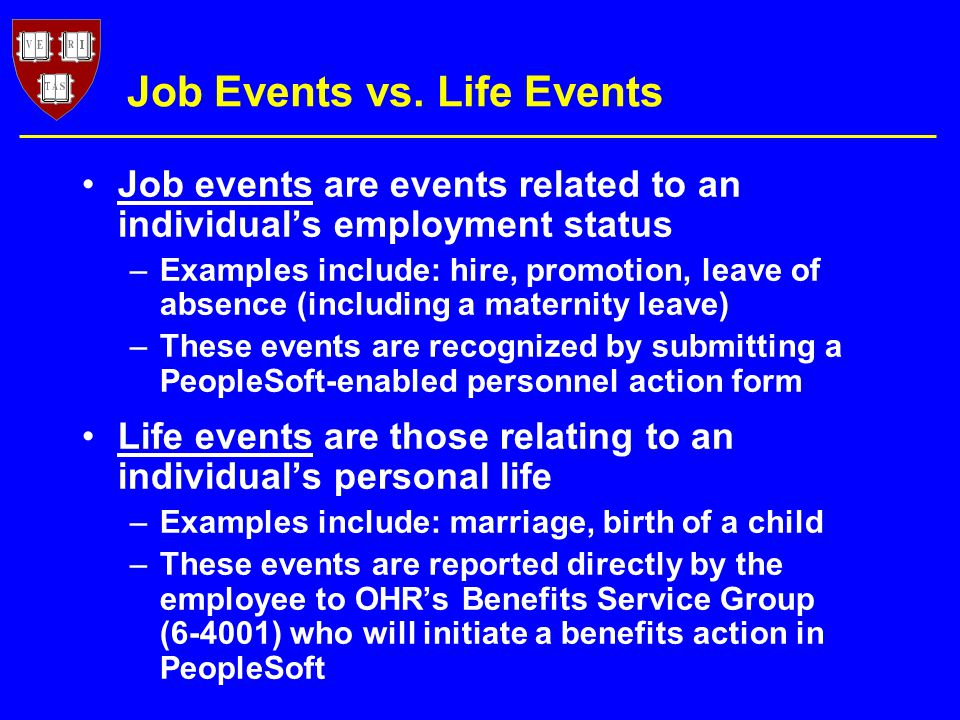 Job Events vs.