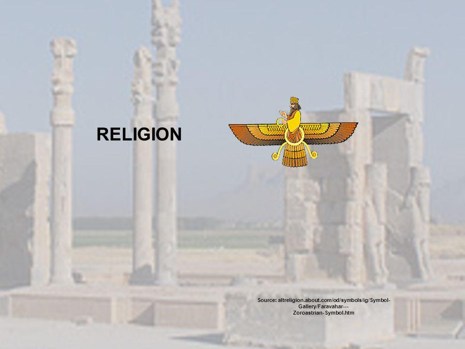 RELIGION Source: altreligion.about.com/od/symbols/ig/Symbol- Gallery/Faravahar--- Zoroastrian-Symbol.htm