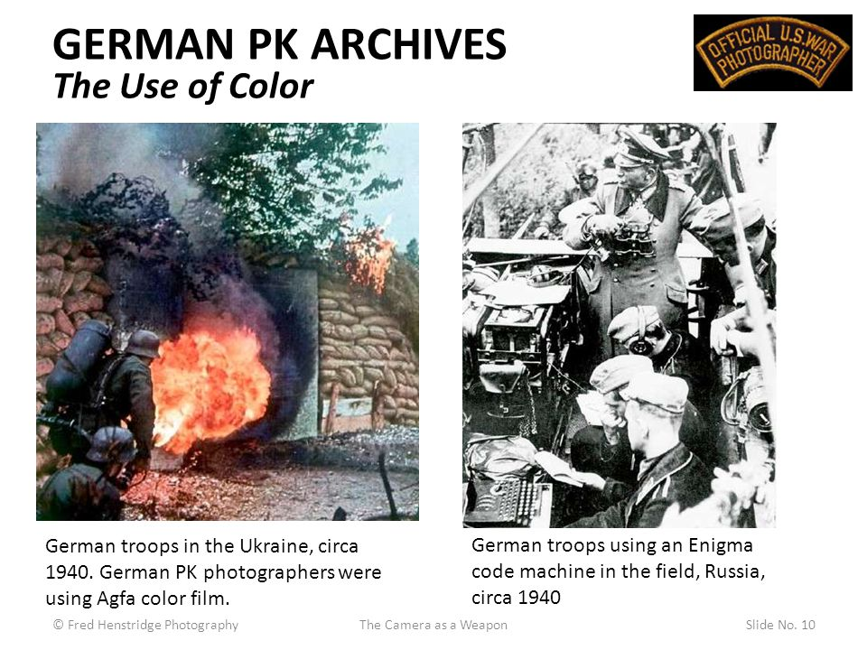 GERMAN PK ARCHIVES The Use of Color German troops in the Ukraine, circa 1940.