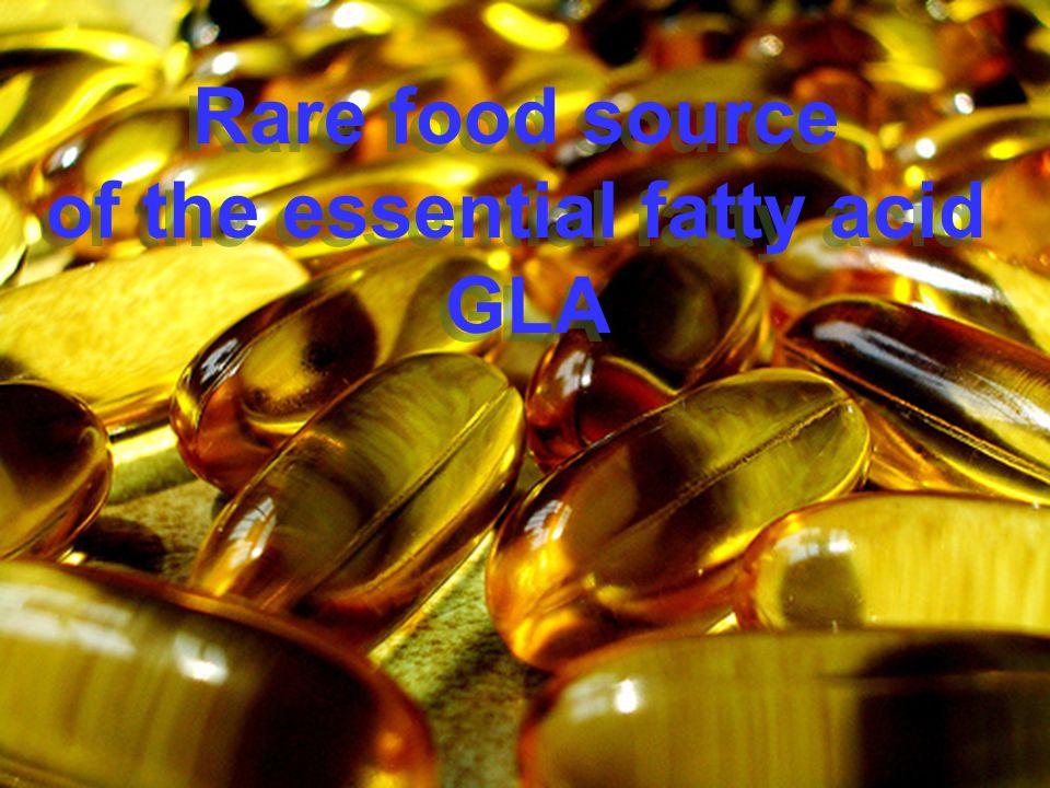 Rare food source of the essential fatty acid GLA Rare food source of the essential fatty acid GLA
