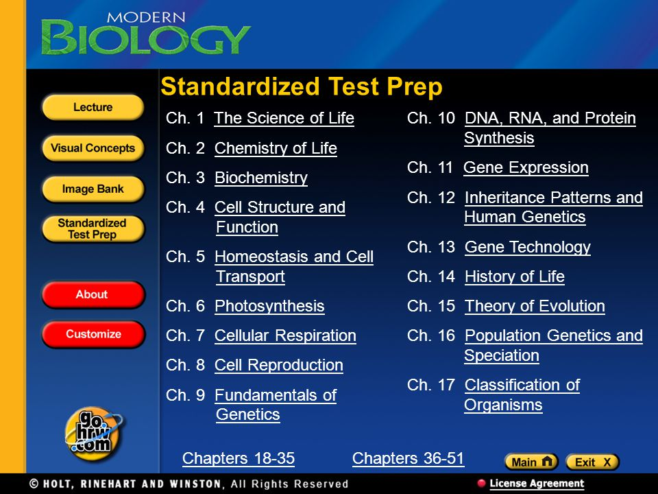 Standardized Test Prep Ch.1 The Science of LifeThe Science of Life Ch.